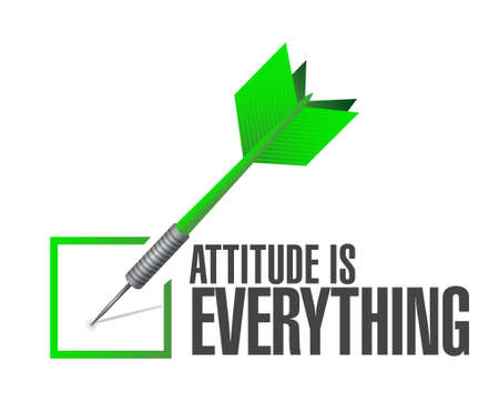 attitude is everything approve check sign concept illustration design icon
