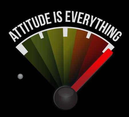 mood: attitude is everything marker sign concept illustration design