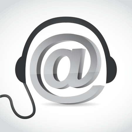 arroba: online music concept sign illustration design graphic