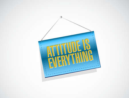 attitude is everything banner sign concept illustration design