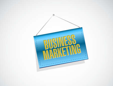 hanging banner: Business Marketing hanging banner sign concept illustration design graphic
