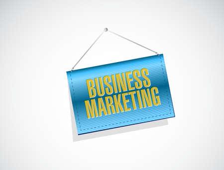 hanging banner: Business Marketing hanging banner sign concept illustration design graphic