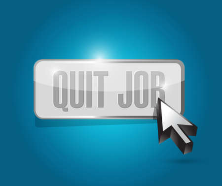 resign: quit job button sign concept illustration design graphic