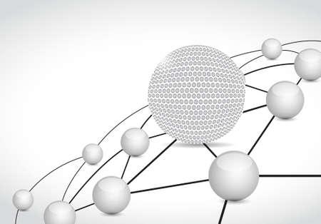 golf link sphere network connection concept illustration design graphic background