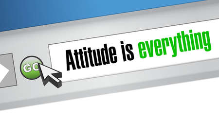 attitude is everything website sign concept illustration design