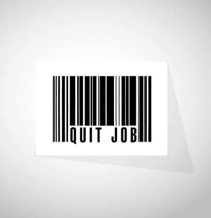 resign: quit job barcode sign concept illustration design graphic
