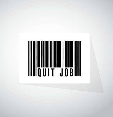 quit job barcode sign concept illustration design graphic