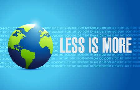 less: less is more international sign concept illustration design Illustration