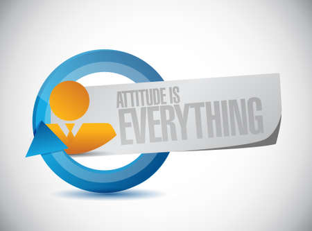 behaving: attitude is everything cycle sign concept illustration design icon Illustration