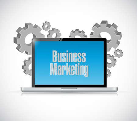 computer tech: Business Marketing tech computer sign concept illustration design graphic