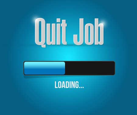 quit job loading bar sign concept illustration design graphic Illustration