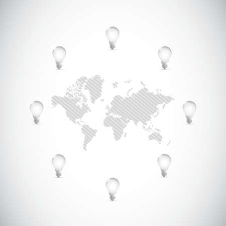 개념 그림 디자인 주위 세계 각국의 아이디어