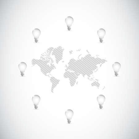 ideas around the globe concept illustration design Ilustração