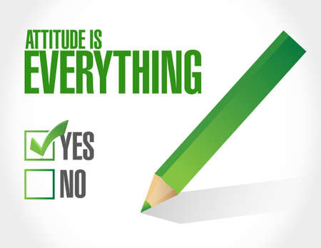 behaving: attitude is everything check list sign concept illustration design