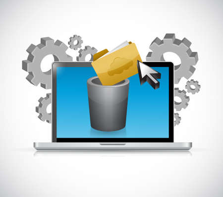cleaning your files concept. illustration design graphic