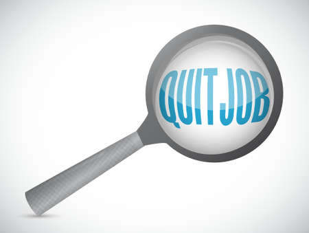 resign: quit job magnify sign concept illustration design graphic