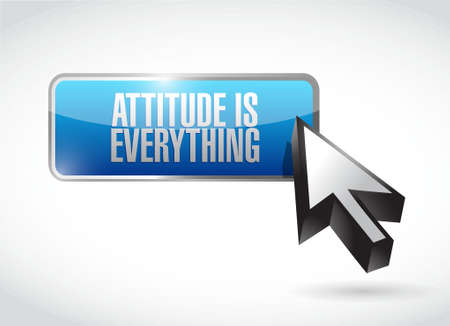 behaving: attitude is everything hook sign concept illustration design icon