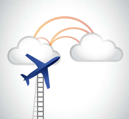ladder to the clouds illustration design graphic Stok Fotoğraf - 43208770
