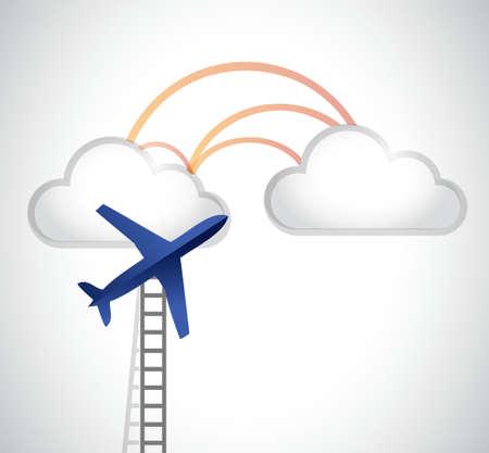charter: ladder to the clouds illustration design graphic Illustration