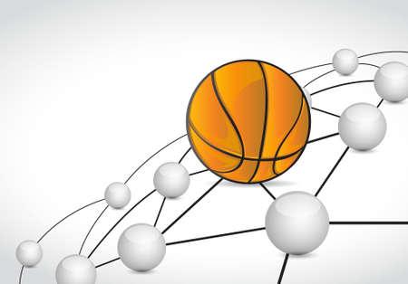 basket link sphere network connection concept illustration design graphic background