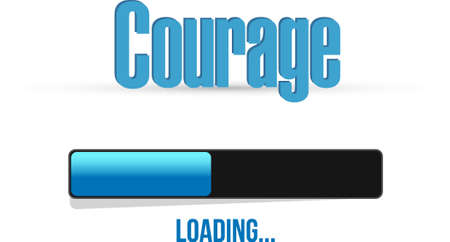 inner strength: courage loading bar sign concept illustration design graphic