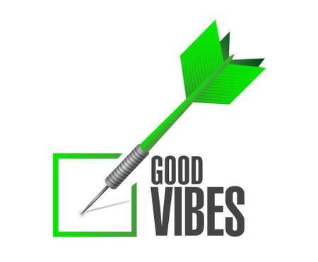 vibes: good vibes check dart sign concept illustration design graphic Illustration