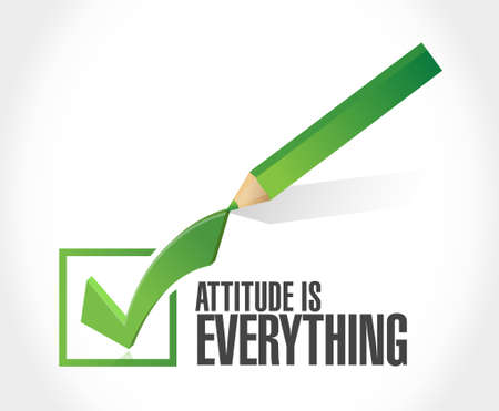 check mark sign: attitude is everything check mark sign concept illustration design icon