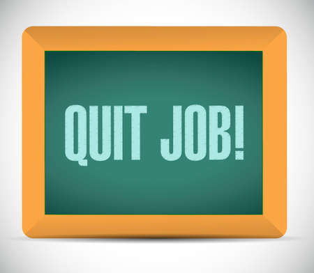 jobs: quit job chalkboard sign concept illustration design graphic Illustration
