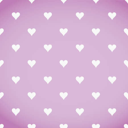 hearts background: white hearts patter over a pink background illustration design