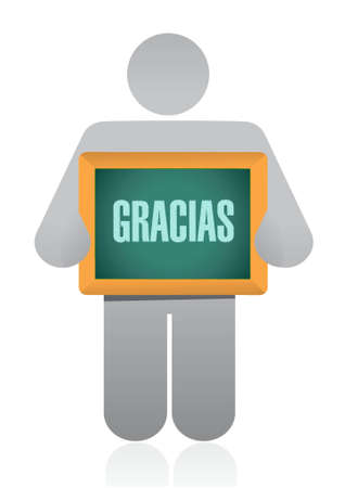 spanish thanks message avatar sign illustration design graphic Reklamní fotografie - 43208888