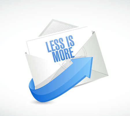 less: less is more email sign concept illustration design