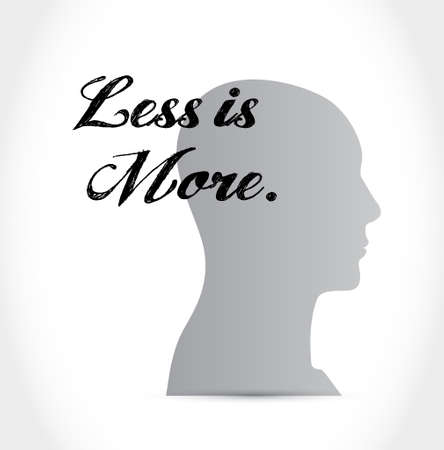 mindset: less is more mindset sign concept illustration design