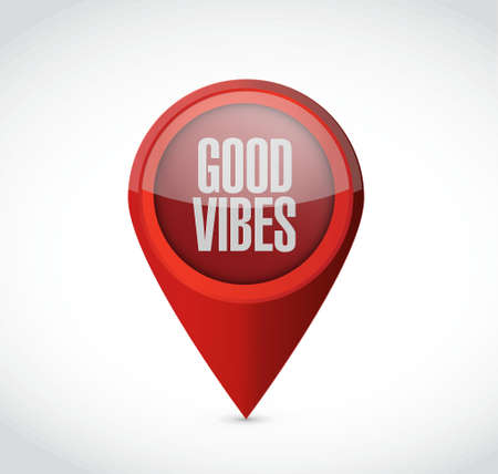 vibes: good vibes pointer sign concept illustration design graphic