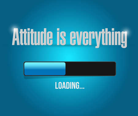 behaving: attitude is everything loading bar sign concept illustration design icon Illustration