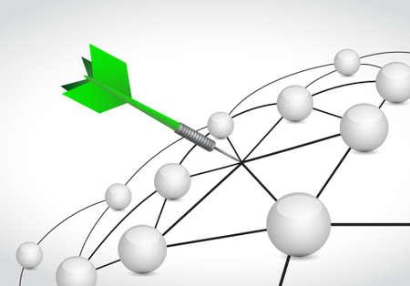 dart link sphere network connection concept illustration design graphic background
