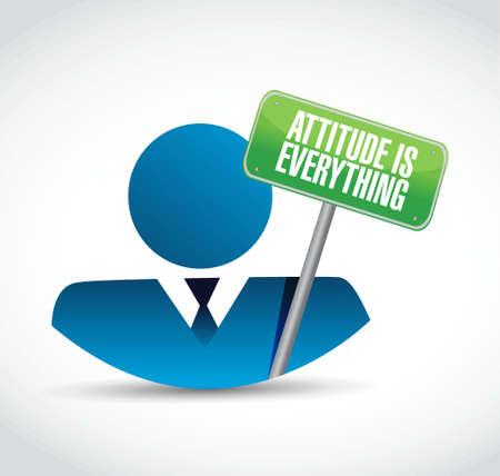 encouragements: attitude is everything avatar sign concept illustration design icon