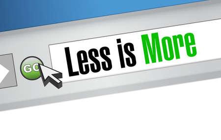 less: less is more browser sign concept illustration design Illustration