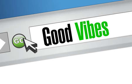 vibes: good vibes browser sign concept illustration design graphic