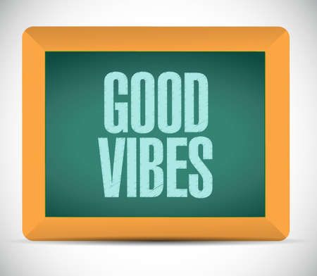 vibes: good vibes board sign concept illustration design graphic