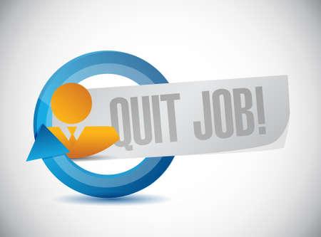 quit job people sign concept illustration design graphic