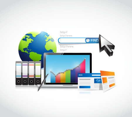 market research business concept illustration design graphics