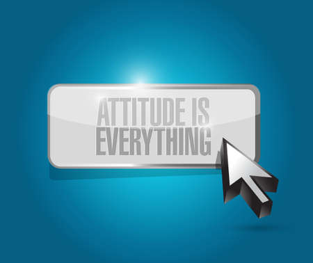behaving: attitude is everything button sign concept illustration design icon