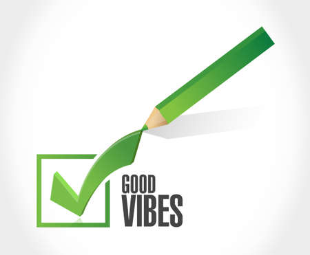 vibes: good vibes check mark sign concept illustration design graphic