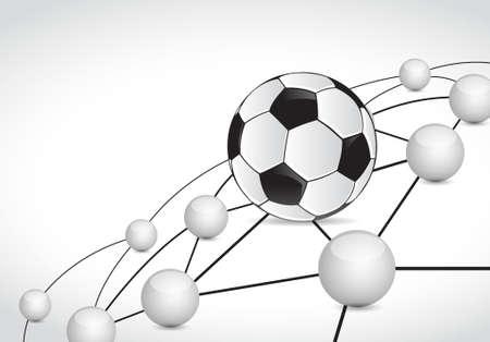 soccer link sphere network connection concept illustration design graphic background