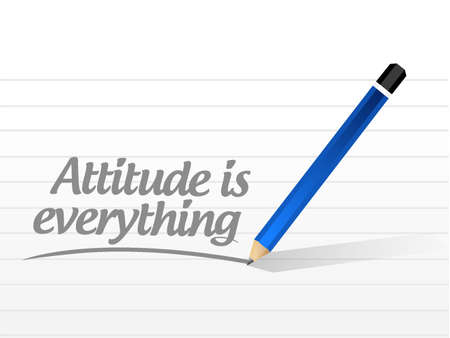 behaving: attitude is everything message sign concept illustration design icon Illustration