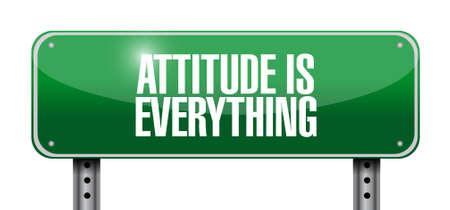 actitud: la actitud es todo signo concepto de carreteras icono ilustración, diseño,