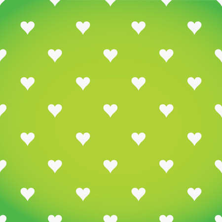 patter: white hearts patter over a green background illustration design
