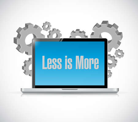 less: less is more technology sign concept illustration design Illustration