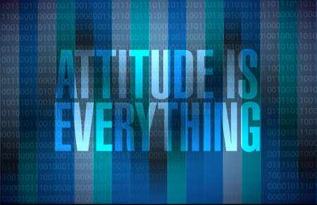 attitudes: attitude is everything sign concept illustration design Illustration