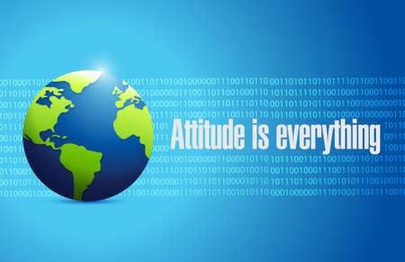 attitude is everything international sign concept illustration design Illustration